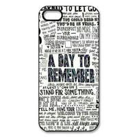 Music Band A Day To Remember Quote High Qulity Hard Plastic Back Protective Case for iPhone 5, 5S