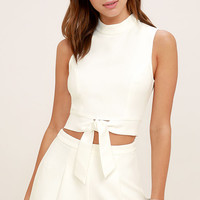 Anywhere White Two-Piece Set