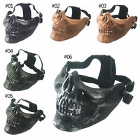 Halloween Mask half face protection Airsoft Riding Mask Skull Skeleton Airsoft Paintball Half Face Protect Airsoft Mask