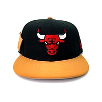 New Era 9FIFTY Chicago Bulls Team Hook Black Fitted Hat