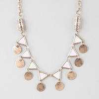 Full Tilt Triangle Disc Necklace Gold One Size For Women 25138462101