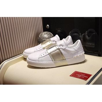 Valentino Women's Leather Fashion Low Top Sneakers Shoes