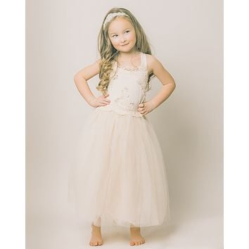 Evangeline Flower Girl Dress in Ivory