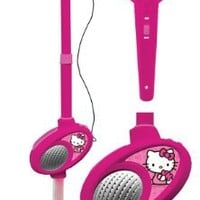 Hello Kitty Mic Stand with MP3 Aux Input, Toy of the Year for Kids Who Love to Sing