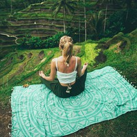 Aloe Mandala Beach Towel