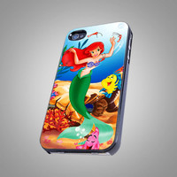 Beautiful Ariel Little Mermaid Disney Princess - KCB 005 - Design - iPhone 4 iPhone 4S iPhone 5 Case ( Black / White )
