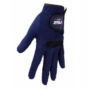 Golf Gloves Men's Left Right Sweat Absorbent Microfiber Cloth Soft Breathable