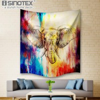 Mandala Tapestry Indian Style Elephant Hippie Wall Hanging Tapestries Beach Throw Towel Gypsy Bed Sheet Home Decoration