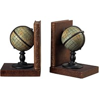 "7""H Atlas Book Ends Brown"