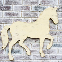 "HORSE Sign Large horse wall art 32"" choice of style - still, galloping or as pictured  Your color  Baby nursery farm barn"