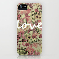 FLORAL LOVE iPhone Case by Nika  | Society6
