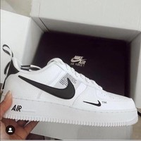 NIKE AIR FORCE 1 07 LOW Fashion Women Men Running Sports Shoes Sneakers White