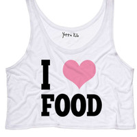 I Heart Food Crop Tank Top