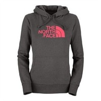 Amazon.com: The North Face Half Dome Pullover Hoodie - Women's Graphite Grey/Teaberry Pink, L: Clothing