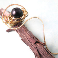 Agate Onyx Wire Wrapped Swirl Ring