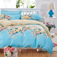 JU Home Textile 4pcs Bedding Sets Bed Sheet Cozy Bedding Set Bed Linen Duvet Cover Bed Sheet Pillowcase/bed Set 5 Size