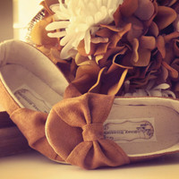 Baby Shoes Toddler Girl Shoes Soft Soled Shoes Infant Shoes Spring Shoes Summer Shoes Tan Shoes Faux Suede Shoes-Sweet Butterscotch