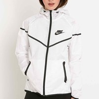 Nike Tech Windrunner Jacket in White - Urban Outfitters