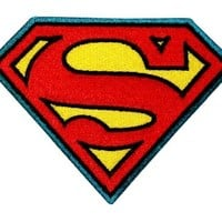 DC Comics Superman Logo Embroidered Iron On Movie Patch Applique DC01