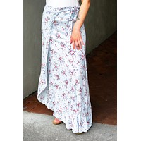 Wrapped up in you Floral Skirt