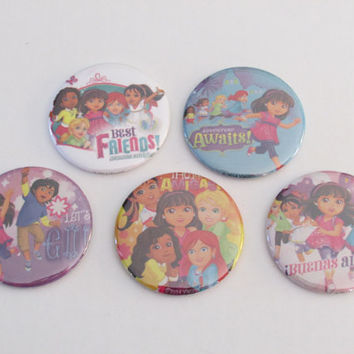 Dora and Friends Magnets Set of 5 - Excellent Party Favors - Dora the Explorer and Friends