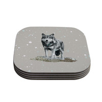 "Monika Strigel ""Wolf"" Coasters (Set of 4)"