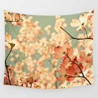 Pink Wall Tapestry by Olivia Joy StClaire