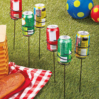 Ourdoor Beverage Can Holders Yard OutDoor Decor ( 6 )