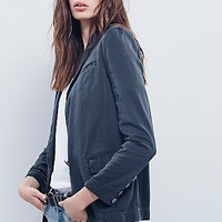 Free People Womens Slouchy Blazer