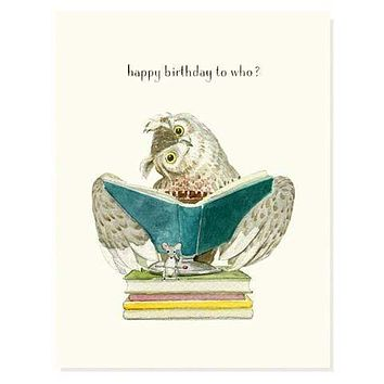 Birthday Who Card
