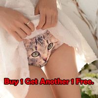 Cat underwear, cat face, Cat Sexy Lingerie,gift for her, awesome gift idea,bachelorette party,bridesmaids gift