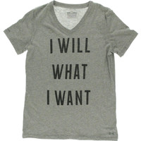 Under Armour Womens Heathered V-Neck Graphic Tee