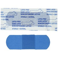 """American White Cross Blue Metal Detectable Adhesive Strips, Sterile, Lightweight 1"""" x 3"""" Bulk, 130 per Case, 10 Tray per Case (Pack of 1300) Ez Store USA"""