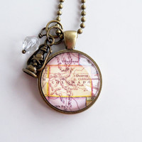 Map of Colorado - Map Pendant Necklace - Custom Jewelry - Personalized Pendant - Denver Colorado - Travel Jewelry - State Jewelry
