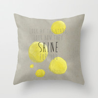 Yellow, Coldplay Throw Pillow by gabsnisen
