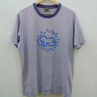 Keith Haring Boy Stripe T shirt
