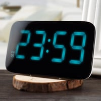 LED Alarm Clock Voice Control LED Display Electronic Snooze
