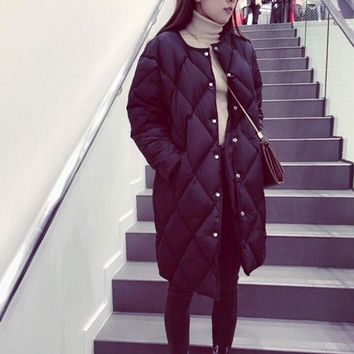 New Women Winter Long Wide-Waist Jackets Cotton Padded Thick Warm Coat
