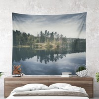 Nature Wall Tapestry With Beautiful Lake Print, Wanderlust Tapestry, Original Photography, Large Wall Art, Wall Decor, Dorm Decor, Landscape