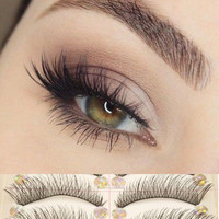10 Pairs Natural Handmade Thick Long Short Cross False Eyelashes Soft Fake Eye Lashes Extension Voluminous Makeup [9005548740]