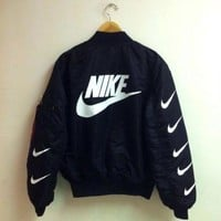 DCCKBA7 Fashion 'Nike' Bomber Jacket