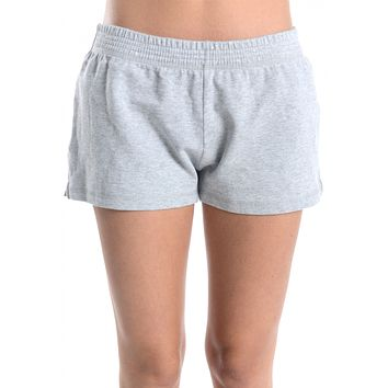 Juniors Low Rise Banded Waist Workout Sweat Shorts