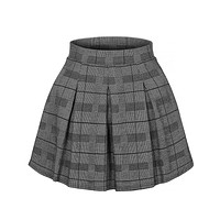 Tartan Chequered Pleated Elastic Waist Plaid Mini Skater Skirt (CLEARANCE)