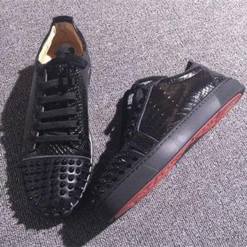 DCCK Cl Christian Louboutin Low Style #2058 Sneakers Fashion Shoes