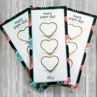 Large Gold Heart Paper Clips - Gold Fun and Unique Paperclips and Gold Stationary Planner Accessories ECLP