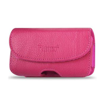 Reiko HORIZONTAL POUCH HP18A IPHONE 4G PLUS HOT PINK CELL PHONE WITH COVER