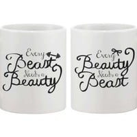 Every Beauty Needs a Beast Coffee Couple Mugs