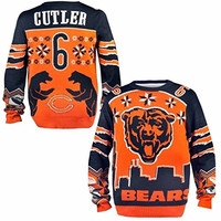Chicago Bears Jay Cutler #6 Big Logo Ugly Sweater Sizes S-XXL w/ Priority Shipping