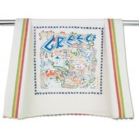 GREECE DISH TOWEL