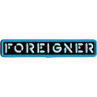 Foreigner Iron-On Patch Letters Logo